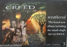 "Creed ""Weathered"" Australian Promo Poster- Hard Rock, Post-Grunge Music"