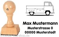 VW Bus T2 - Pritsche - Motiv-Holz-Stempel - mit Wunschtext