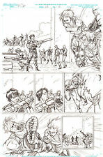 G.I. Joe #10 pg 6 ORIGINAL Pencil Art  Zandar & Zarana Steve Kurth 11 x 17