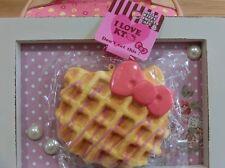 Hello Kitty Waffle strawberry drizzle SQUISHY masco tball chain SQUEEZE rare!!