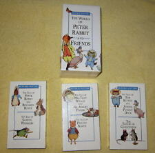 LOT of 3 VHS Peter Rabbit VIDEOTAPES Benjamin Jemima Tiggy Pigling Potter VCR