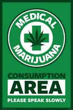 Medical Marijuana Consumption Area Please Speak Slowly Poster 24x36
