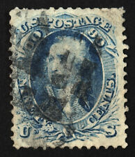 #72 90c Blue 1861 VF-XF Used