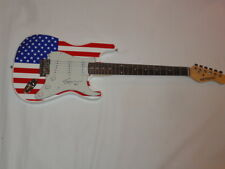 SHOOTER JENNINGS SIGNED USA FLAG ELECTRIC GUITAR COUNTRY WAYLON PROOF JSA COA