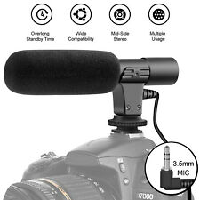 3.5mm Condenser Microphone Stereo Video Audio Camera Professional Recording Mic