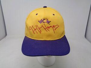 WCW Snapback Hulk Hogan Hat Yellow Vintage Wrestling