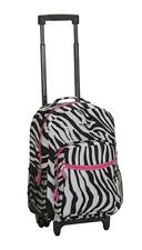 Rockland 17 Rolling Backpack Pinkzebra R01-PINKZEBRA Luggage Bag NEW