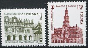 POLAND 1975 European Architectural Heritage Year. Set of 2. MNH. SG2399/2400.