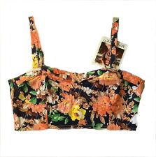Bikini top cotton spandex Casual summer Beach wear back zipper Holiday size L