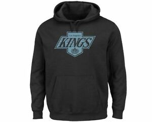 Los Angeles Kings MENS Sweatshirt Vintage Pullover Hoody Lightweight by Majestic