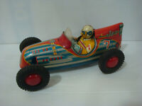 Jouet ancien en tole Marusan friction Jet car Vintage toys tin Made in Japan 50s