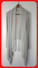 NWT - SWEEWE PARIS Grey Waterfall Cardigan Sheer And Jersey Layers Size S/M