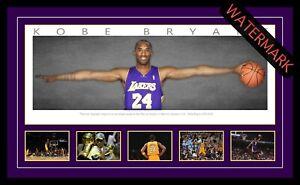 KOBE BRYANT LA LAKERS WINGS - FRAMED LITHOGRAPH NBA ALL-STAR NBA FINALS MVP