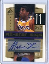 2004-05  SP GAME USED CARD NO.AS-MA MAGIC JOHNSON AUTOGRAPH #10/12, LAKERS