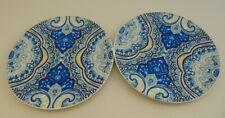"Pottery Barn 8"" Ceramic Graphic Salad/Dessert Plate Lot"