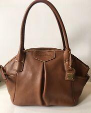 Dooney & Bourke Satchel Purse Genuine Leather Brown Zip Closure