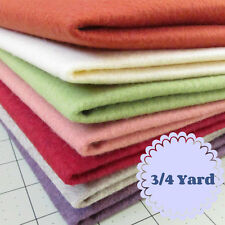 3/4 Yard Merino Wool blend Felt 20% Wool/80% Rayon - Cut to order