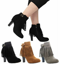High (3-4.5 in.) Block Patternless Boots for Women