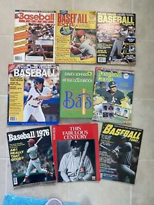 1 Lot Of 9 Items of Baseball Magazines Books Etc Various Issues Types & Info