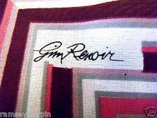 Vintage gim RENOIR rose géométrique col ~ square ~ foulard ~ écharpes # 150