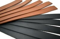 """10"""" Long Leather Blanks BLACK or BROWN 5-6oz OIL-TANNED LEATHER Strips 10+Packs"""