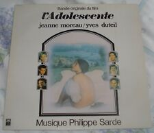 L'ADOLESCENTE (Philippe Sarde) rare original near mint France stereo lp (1979)