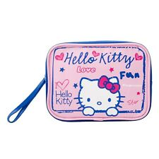 Hello Kitty Scribble Zipped Cosmetic Make-Up Travel Bag