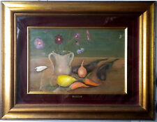091112 Mario Cortiello (1907-  1981).  Natura morta con fiori e frutta.