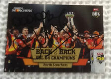 Perth Scorchers Single Cricket Trading Cards