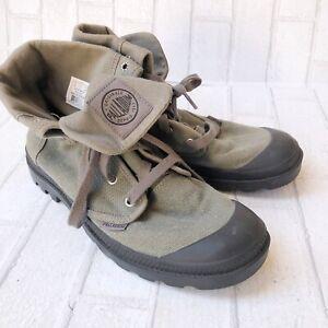 MEN'S Size 11 PALLADIUM Baggy Boots 02353-069-M Green Hiking Rugged Combat.
