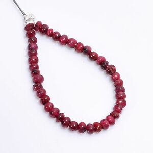 """Natural Pink Ruby Gemstone Rondelle Shape Smooth Beads 3X3X2mm Strand 3"""" DK-3725"""