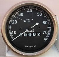 Speedometer Royal Enfield Motorcycle 70 MPH black