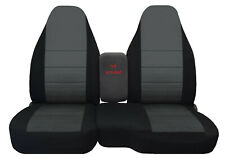 Car seat covers black/charcoal center fits 91-97 Ford Ranger 60/40 highback