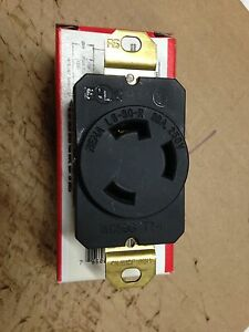 Pass & Seymour locking receptacle L6-30R MADE IN U.S.A. 30 amp 250V twist lock