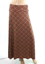LuLaRoe Women's Maxi Skirt Geometric Red Multi Color Stretch Size M - L693