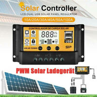 10-100A MPPT Solar Panel Regulator Charge Controller Auto Focus Tracking 12/24V