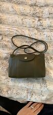 Longchamp le pliage cuir crossbody Leather Bag In Olive Brown