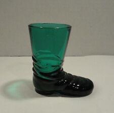 Vintage Teal Glass Boot
