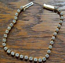 Used Goldtone Cubic Zirconium Tennis Bracelet, 7 inches, in perfect condition