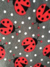 Polar Fleece Anti Pill Fabric Premium Quality Soft Material Ladybirds PPFL50