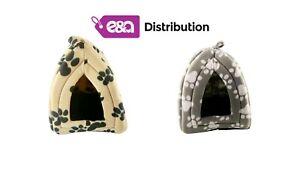 Pyramid Pet Hut with Washable Fleece Igloo Base Cushion Bed for Dog & Cat 33x45
