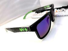 HELM KEN BLOCK SPY SUNGLASSES Black /Green Frame  SPY Microfiber Case USA Seller