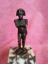 Jolie statuette ancienne Napoléon Bonaparte bronze ou régule ? sur socle marbre