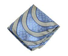 Umberto Algodon Napoli Men's Lavender Gold Ribbon Stripe Woven Pocket Square