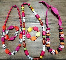 Girls GYMBOREE lot Of 5 Jewelry Necklaces/Bracelets pink