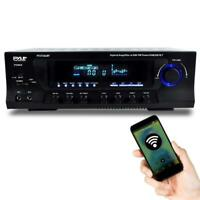 PYLE BLUETOOTH 300W HYBRID STEREO RECEIVER AMPLIFIER AM/FM USB/SD AUX MIC INPUTS