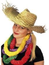 Hawaiian Beachcomer Straw Hat Unisex Fancy Dress Adult Beach Costume Accessory