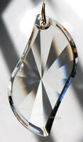 Huge 89mm Asfour Swinger Crystal Clear Prism SunCatcher Feng Shui 3.5""