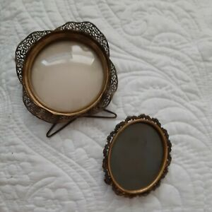 Vtg antique Victorian picture frame pair