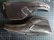 Gucci Dark Brown Leather Soft Sole Booties Womens Size 37 Preowned